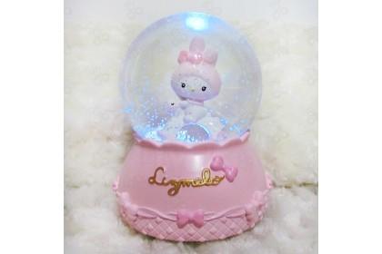 [Ready Stock] Crystal Ball - Unicorn, Bear, Cute Human Colorful Light Snowflake Rotate Romantic Music Box