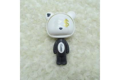 [Ready Stock] Bear Head Rotate Hand Pressure Fan Manual Windy Mini Hand Fan 便携式卡通手压风扇 Kipas Tangan 1pcs
