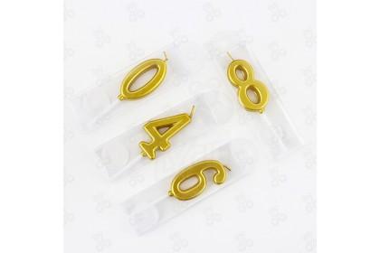 [Ready Stock] Gold Digit Candle 金色数字蜡烛  (1pcs)