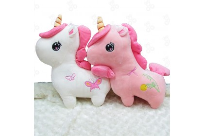 [Ready Stock] 35cm Embroidery Unicorn Plush Decor 站版独角兽