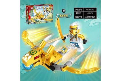 [Ready Stock]LW1010 Ninja Flying Transport [8in1/set] Building Block 八合一忍者飞行交通积木