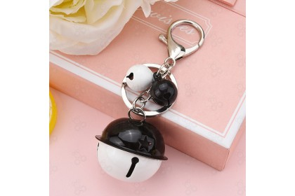 [Ready Stock] Creative cartoon candy color matching two-color bell keychain 创意卡通糖果拼色双色铃铛钥匙扣 [1pcs]