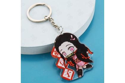 [Ready Stock] Demon Slayer Anime Figure Arcylic Keychain 鬼灭之刃动漫公仔亚克力钥匙扣 [1pcs]