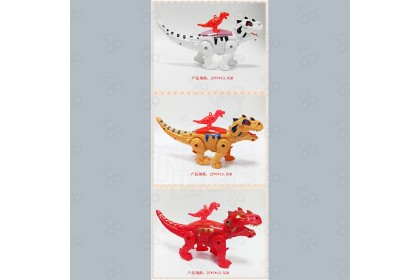 [Ready Stock] Electric Dinosaur with Sound + Walking+ Light & rope Hard Toy 1pcs (Randomly send out by seller)