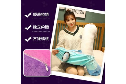 [Ready Stock] 90cm Among Us Decor Plushies Long Pillow & Quilt [2in1/set]