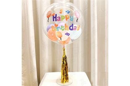 [Ready Stock] Party Balloon Sticker for Transparent BOBO Balloon Decoration <Greeting Word> 透明气球贺词贴纸点缀