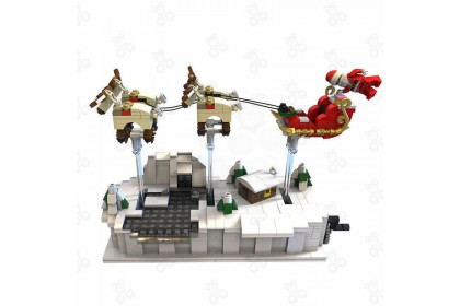 [Ready Stock] Gejia 49007 Christmas Eve Flying Santa Claus Compatible Building 759+pcs Building Block