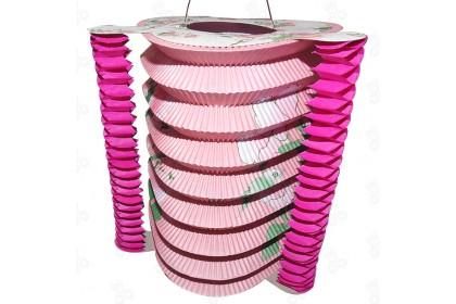 {Ready Stock] Traditional Mid Autumn Floral Design Paper Lantern (Mix Shape) 12pcs/pack 传统纸花灯笼一套12个