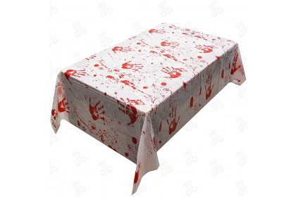 {Ready Stock] Halloween Bloody Handprints Spooky Mood Creator Table Cover Party Props (1pcs)