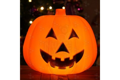 [Ready Stock] 25cm Halloween Pumpkin W/Light + Sound Party Event Home Decoration 1pcs  (no provide battery)