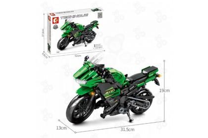 [Ready Stock] Sembo Block 701805 Enjoy the Ride Technique Bike Motor Ninja 400 Motorcycle Building Bricks Big Size 886+pcs