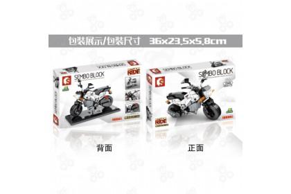 [Ready Stock] Sembo Block 701211 Enjoy the Ride NVI110 White Motorcycle Bike Vehicle Transport Building Bricks 摩托车