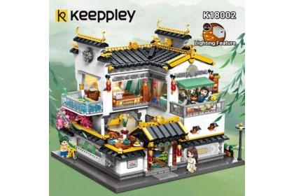 [Ready Stock] Qman Keeppley Block K18002 Qi Yun Xiao Zhu Chinese Street Building China Trend Bricks 栖云小筑
