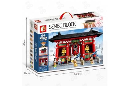 [Ready Stock] Sembo Block Japanese Street View 601088 Big Kaminarimon Gate Sensoji Temple Tokyo Japan Building 2017pcs