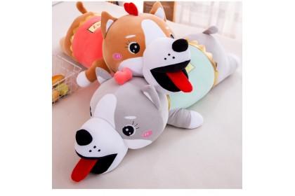(Ready Stock) 100cm Cute Sunday Lying Husky  Stuffed Toy Plush Toy Doll