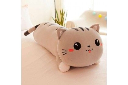 (Ready Stock) 50cm Cute Soft Lazy cat Sleeping Pillow Lie Down Cat Stuffed Toy Plush Toy Doll
